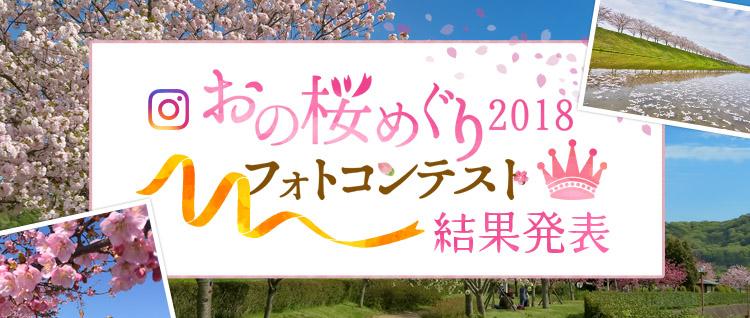 おの桜めぐり2018結果発表トップサイドスライダー