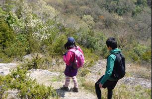小野アルプス登山者