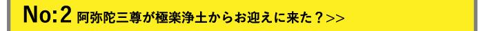 No:2 阿弥陀三尊が極楽浄土からお迎えに来た?