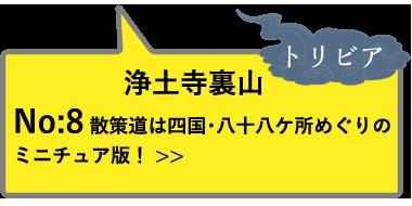 浄土寺裏山 トリビアNo:8 散策道は四国・八十八ケ所めぐりのミニチュア版!