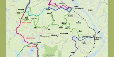 加古川⇔小野アルプス周辺ウォーキングマップ[裏面]