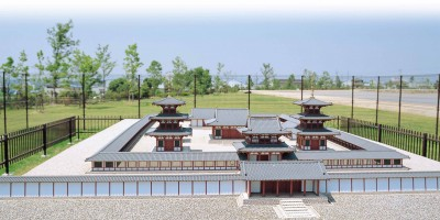 広渡廃寺跡歴史公園(模型伽藍)